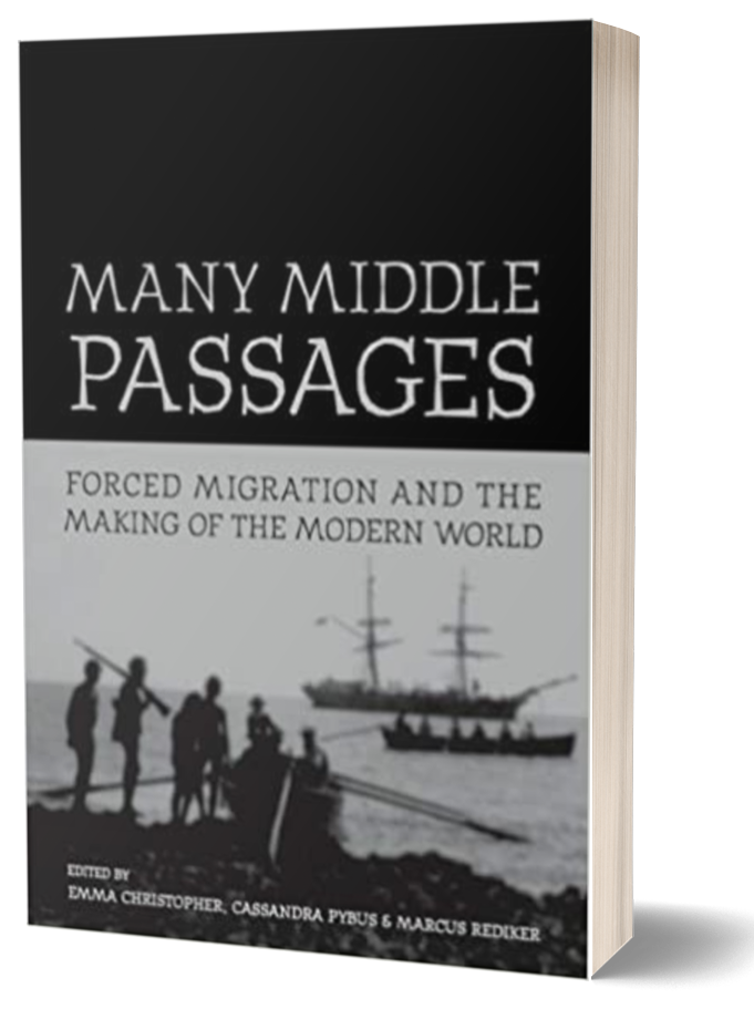 Book cover of Many Middle Passages by Marcus Rediker